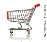 isolated shopping cart on the...