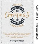 christmas greeting card gold... | Shutterstock .eps vector #511048897