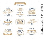 christmas labels elements... | Shutterstock .eps vector #511048921