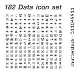 182 data icon set  | Shutterstock .eps vector #511049911