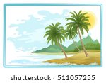 tropical sea landscape  green... | Shutterstock .eps vector #511057255