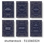 abstract vector brochure cards... | Shutterstock .eps vector #511060324