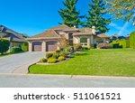 big custom made luxury house... | Shutterstock . vector #511061521