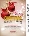 merry christmas party poster... | Shutterstock .eps vector #511061911