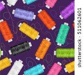 thread spool set background for ... | Shutterstock .eps vector #511062601