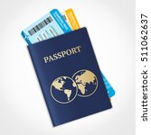 vector passport with tickets.... | Shutterstock .eps vector #511062637
