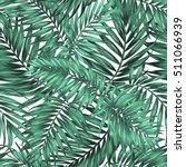 seamless tropical jungle palm... | Shutterstock .eps vector #511066939