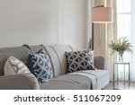modern lamp with set of sofa in ... | Shutterstock . vector #511067209