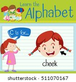 flashcard letter c is for cheek ... | Shutterstock .eps vector #511070167
