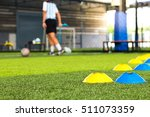 close up  the artificial turf... | Shutterstock . vector #511073359