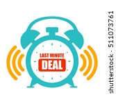 blue last minute deal alarm... | Shutterstock . vector #511073761
