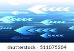 abstract tech motion arrows and ... | Shutterstock .eps vector #511075204