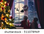 merry christmas and happy... | Shutterstock . vector #511078969
