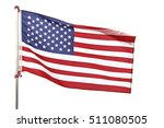 american flag on white... | Shutterstock . vector #511080505