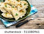russian dumplings on plate ... | Shutterstock . vector #511080961
