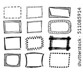 hand drawn frames collection | Shutterstock .eps vector #511085914