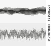 segmented vector audio waves.... | Shutterstock .eps vector #511086229