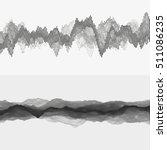 segmented vector audio waves.... | Shutterstock .eps vector #511086235