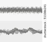 segmented vector audio waves.... | Shutterstock .eps vector #511086241