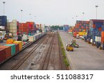 freight train with cargo... | Shutterstock . vector #511088317
