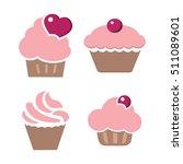 cupcake shop logo templates ...   Shutterstock .eps vector #511089601