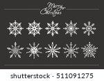 christmas snowflake. vector... | Shutterstock .eps vector #511091275