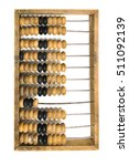 Small photo of Old abacus isolated on white background