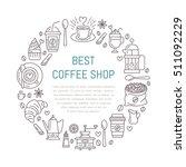 coffee shop poster template.... | Shutterstock .eps vector #511092229