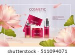 lotus cosmetic ads template  3d ... | Shutterstock .eps vector #511094071
