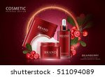bearberry cosmetic ads template ... | Shutterstock .eps vector #511094089