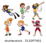 set of people doing different... | Shutterstock .eps vector #511097401