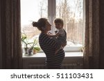 young pregnant mother with... | Shutterstock . vector #511103431