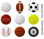 sport ball set for popular... | Shutterstock .eps vector #511107085