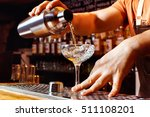 male bartender is making... | Shutterstock . vector #511108201
