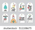 set of merry christmas gift... | Shutterstock .eps vector #511108675