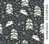 seamless christmas pattern ... | Shutterstock .eps vector #511109101