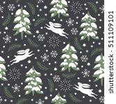 seamless christmas pattern ... | Shutterstock .eps vector #511109101