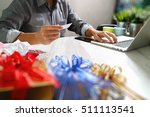 creative choosing gift with... | Shutterstock . vector #511113541
