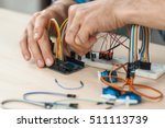 electronic component connected... | Shutterstock . vector #511113739