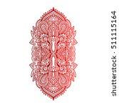 vector ornamental lotus flower  ... | Shutterstock .eps vector #511115164