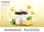 lemon essence ads  cream mask... | Shutterstock .eps vector #511121221