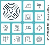 set of project management icons ... | Shutterstock .eps vector #511122577