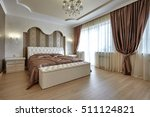 bedroom with a beautiful... | Shutterstock . vector #511124821