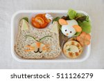 cat and mouse lunch box  fun... | Shutterstock . vector #511126279