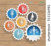 businessman and employee...   Shutterstock .eps vector #511126981