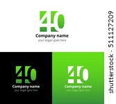 40 logo icon flat and vector... | Shutterstock .eps vector #511127209