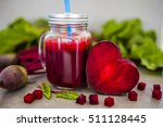 beetroot juice in a mason jar...