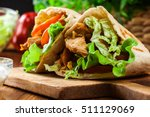 doner kebab   fried chicken... | Shutterstock . vector #511129069