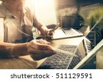 outsource developer working on... | Shutterstock . vector #511129591