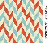 retro geometric seamless... | Shutterstock .eps vector #511136467